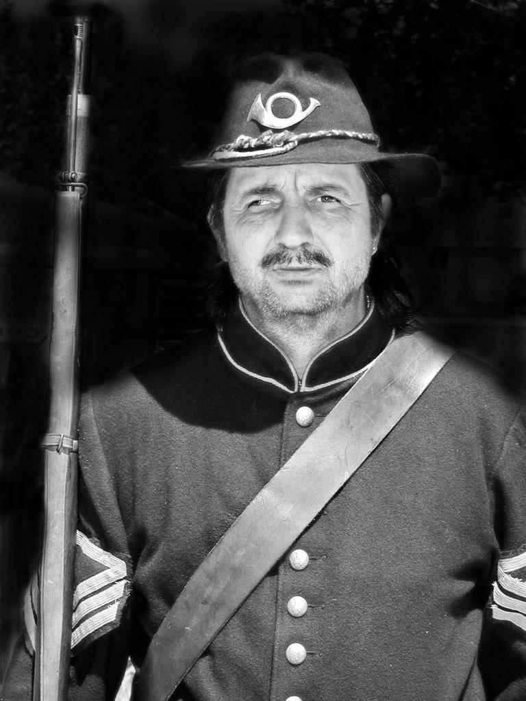 Vintage Hollywood Glamour - Civil War Soldier
