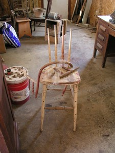 Old High Chair, all pieces intact