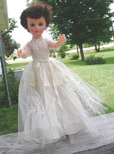 Watch for this 1950's Bride Doll at Countryside Antique Mall or at the Covered Bridge Festival!