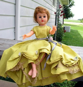 Watch for this Old Jointed Doll at Janet's Flea Market  at the 2004 Covered Bridge Festival or at our booth at Countryside Antique Mall