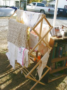 Gorgeous Linens and old books for sale!