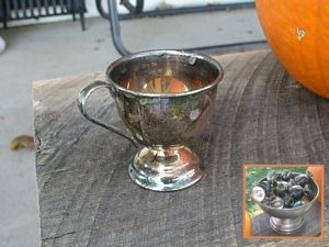 Nickel Silver Punch Bowl Set sold at Countryside Antique Mall in 2003