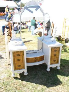 Magnificent Art Deco Vanity and Bed , sold at Countryside Antique Mall in 2003
