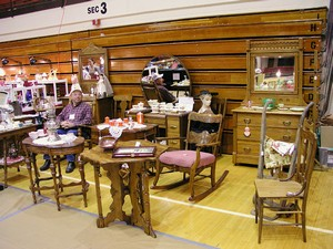 Second Look's Booth at Jeff Antique Show